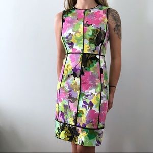 Calvin Klein Multicolored Sheath Dress Size 4
